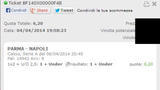 Combobet vincente Parma-Napoli