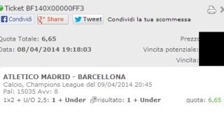 Scommessa Vincente Champions League 09-04-2014
