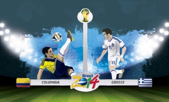 Pronostico Colombia-Grecia 14-06-14