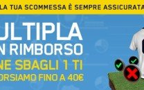 La multipla con rimborso di William Hill 40 € di BONUS