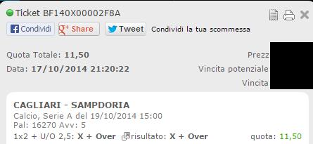 Combobet Vincenti Domenica 19-10-2014