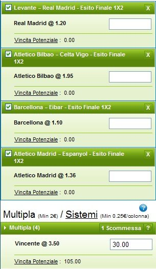 Pronostici ottava giornata Liga 2014-15