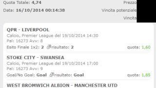 Scommessa Vincente Premier League 20-10-2014