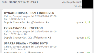 Multipla Vincente Europa League 02-10-2014