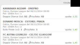 Scommessa Vincente Europa League 06-11-2014