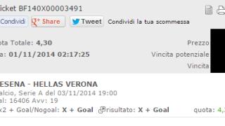 Combobet Cesena-Verona 03-11-2014