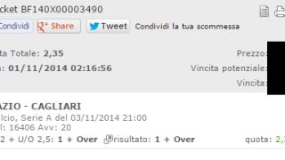 Combobet Lazio-Cagliari 03-11-2014