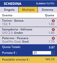 scommesse pronte Serie a 2016-12-22