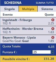 scommesse pronte Bundesliga 2016-12-21
