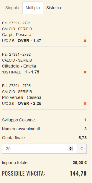 scommesse pronte Serie b 2017-09-30