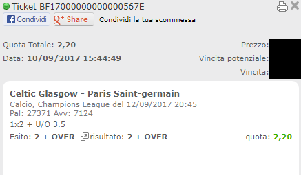 combo vincente celtic-psg