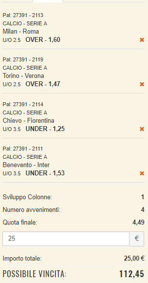 scommesse pronte Serie a 2017-10-01