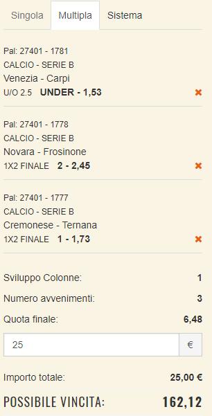 scommesse pronte Serie b 2017-10-08