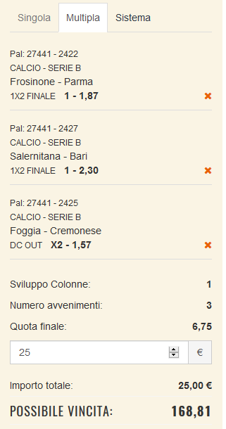 scommesse pronte Serie b 2017-11-04