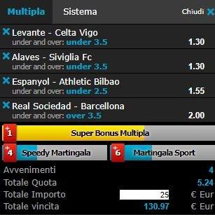scommesse pronte Liga 2018-01-13