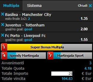 scommesse pronte Champions League 2018-02-13