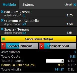 scommesse pronte Serie b 2018-03-10