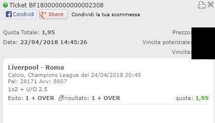 combo vincente liverpool-roma