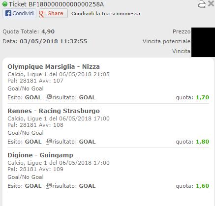 schedina vincente ligue 1