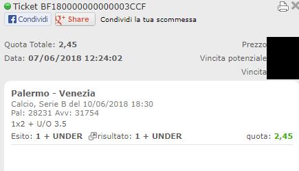pronostico combo vincente palermo-venezia