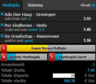 scommesse pronte Eredivisie 2018-10-06