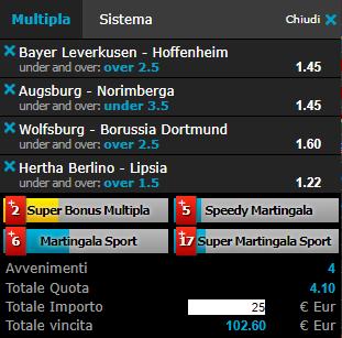 scommesse pronte Bundesliga 2018-11-03