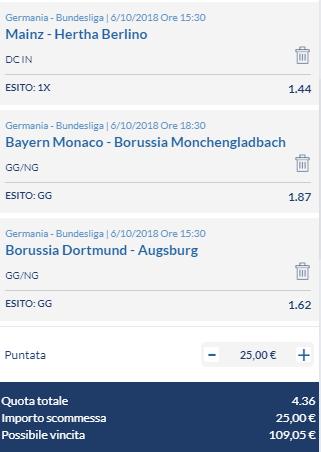 scommesse pronte Bundesliga 2018-10-06