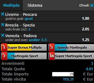 scommesse pronte Serie b 2019-01-26