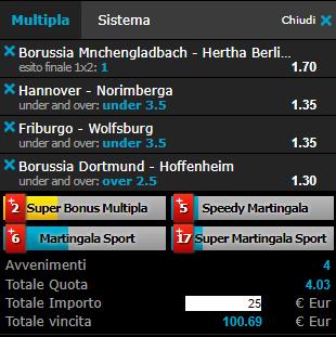 scommesse pronte Bundesliga
