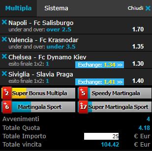 scommesse pronte Europa League 2019-03-07