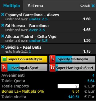scommesse pronte Liga 2019-04-13