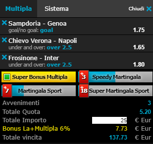 scommesse pronte Serie a 2019-04-14