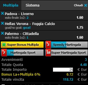 scommesse pronte Serie b 2019-05-11