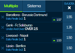scommesse pronte Champions League 2019-11-26