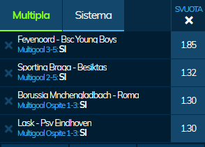 scommesse pronte Europa League