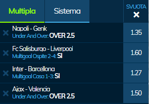 scommesse pronte Champions League 2019-12-10