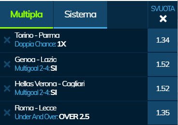scommesse pronte Serie a 2020-02-23