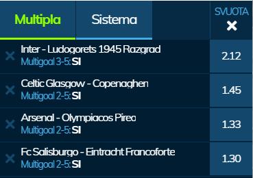 scommesse pronte Europa League 2020-02-27