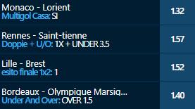 scommesse pronte Ligue 1 2021-02-14