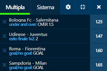 scommesse pronte Serie a 2021-08-22