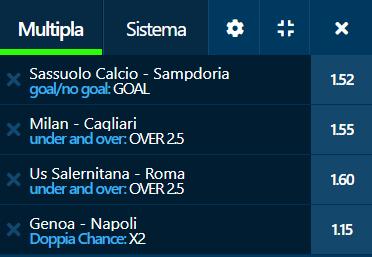 scommesse pronte Serie a 2021-08-28