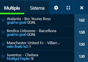 scommesse pronte Champions League 2021-09-28