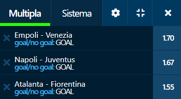 scommesse pronte Serie a 2021-09-11