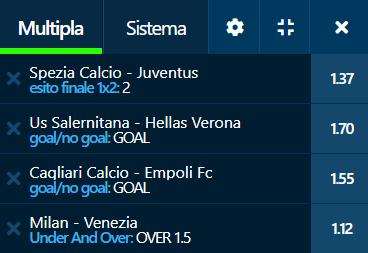 scommesse pronte Serie a 2021-09-22